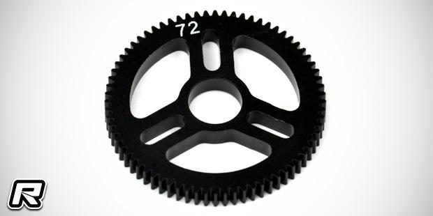 Exotek D413 alloy rear hubs & 72T Flite spur gear