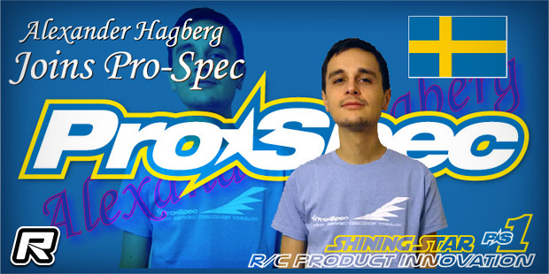 Alexander Hagberg teams up with Pro-Spec