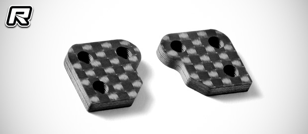 Xray XB2 steering knuckle Ackermann plates