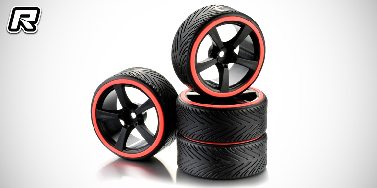 Absima pre-mounted 1/10th drift tyres