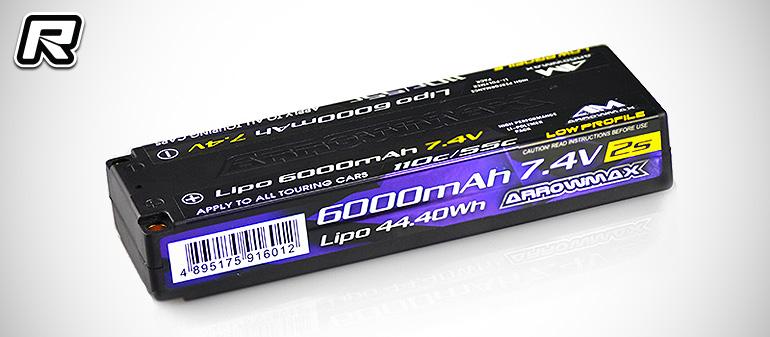 Arrowmax 7.4V 6000mAh low-profile LiPo battery