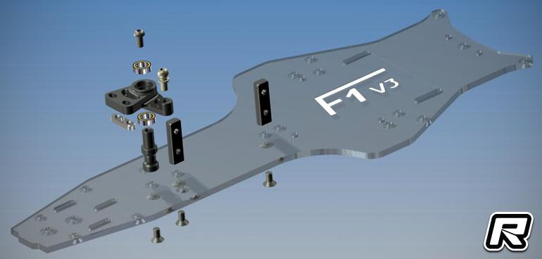 Capricorn LAB F1-01 V3 carbon fibre chassis set