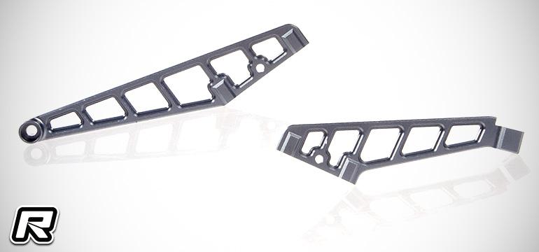 Serpent SRX8 alloy chassis braces & TiNi shock shafts
