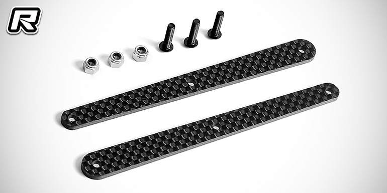 Xray XB8 rear carbon fibre chassis brace inserts