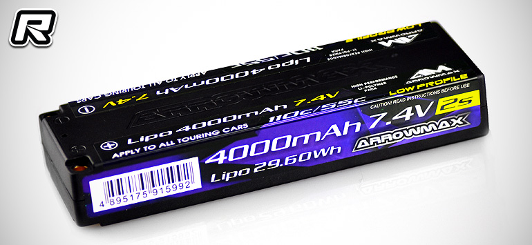 Arrowmax 4000mAh 7.4V low-profile LiPo battery pack