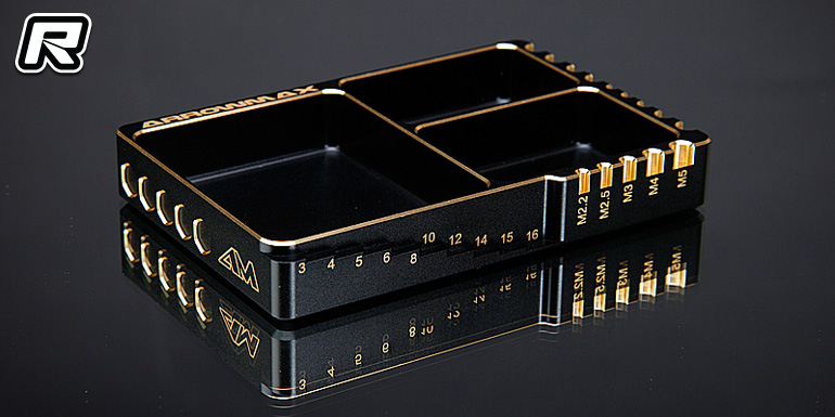 Arrowmax black & gold aluminium multi case