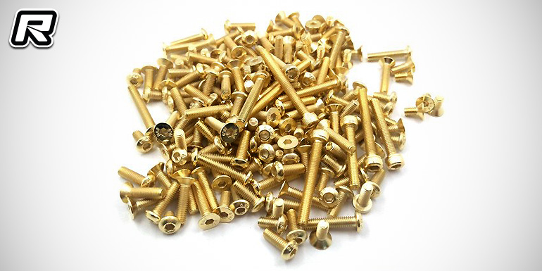 T-Works Optima gold-plated steel screw set