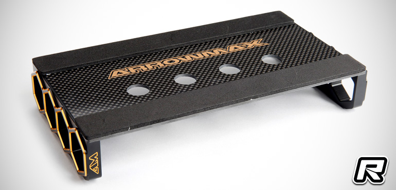 Arrowmax black/golden 1/10th on-road car stand