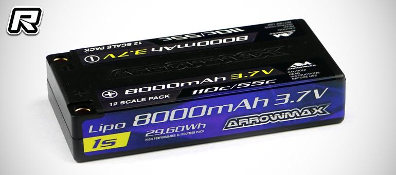 Arrowmax 1S 8000mAh 55C 1/12th scale LiPo battery