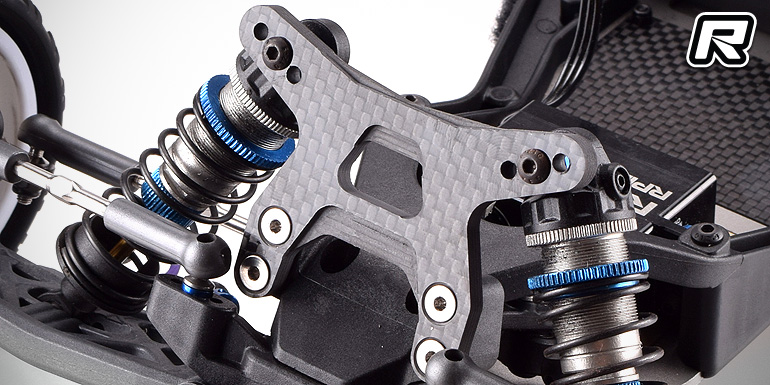 RDRP B6-series carbon fibre front & rear shock towers