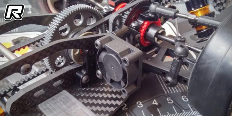 Wrc Stx Carbon Fibre Motor Fan Mount Red Rc Rc Car News