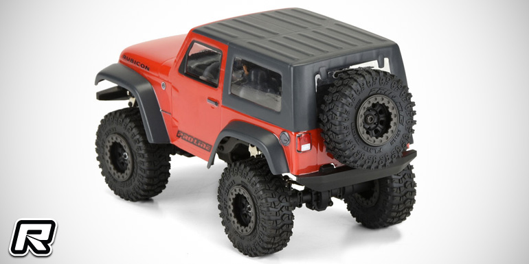 Pro-Line Jeep Wrangler Rubicon 1/24 scale body shell - Red RC