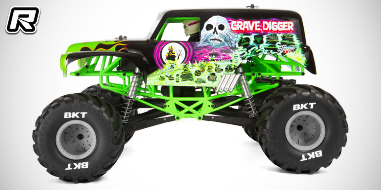 Axial SMT10 Grave Digger 4WD RTR Monster Truck - Red RC